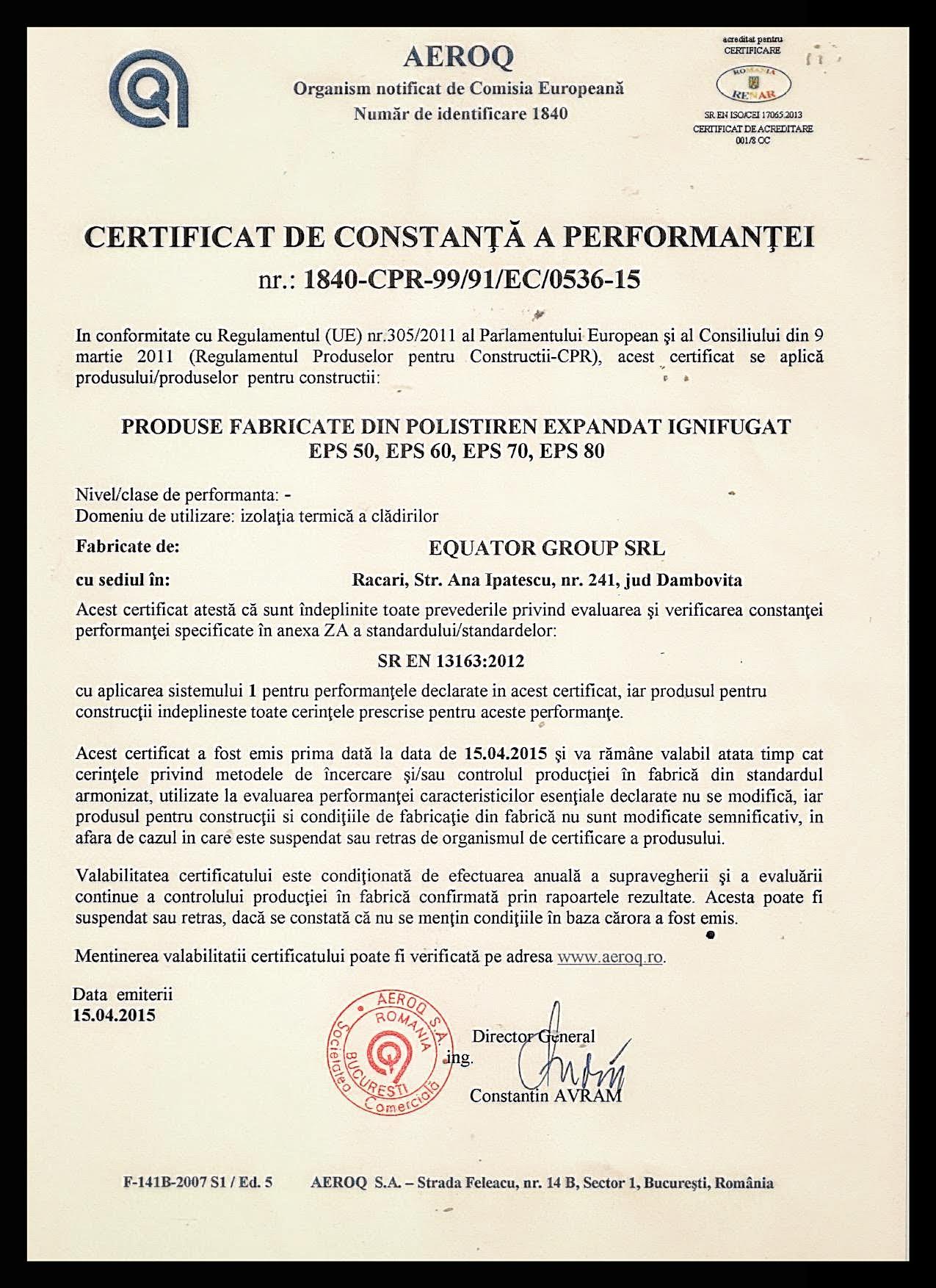 Certif Constanta 50 60 70 80